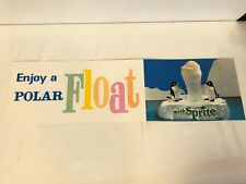1960's Sprite Polar Float Menu Board Poster Coca-Cola Advertising 24 Inches Long