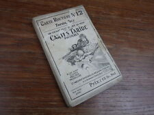 genre MICHELIN : CARTE ROUTIERE TARIDE toilée No 12 vers 1925 TOURAINE BERRY