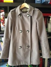 Milk And Honey Grey Long Sleeve Double Breasted Knee Length Jacket Size 6