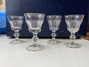 Set Of 4 Antique Victorian Hand Made Wine Sherry Port Glasses