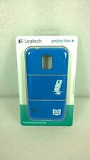 NEW Samsung Galaxy S5 Logitech Protection + Cell Phone Cases Blue (+ Temp Glass)