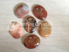 1 Pc Carnelian Worry Stone Crystal Palm Stone Thumb Stone Pocket Stone
