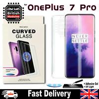 OnePlus 7 Pro UV Glue Nano Optics 3D 9H Curved Tempered Glass Screen Protector