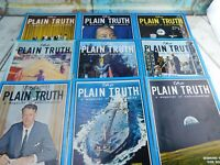 Vintage Lot of 9 The Plain Truth Magazine of Understanding 1966-1971