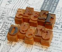 0-9 Holzzahlen 36mm Ziffern Plakatlettern Holzlettern Zahlen imprimerie Letter.