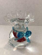 Vintage Murano Art Glass Aquarium Fish Tank Paperweight - Goldfish in a Bag