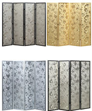 Panel Wooden Heart Design Gold Screen Room Divider