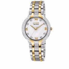 Citizen Eco-Drive Women's EM0124-57B Diamond Accents Two-Tone 29mm Watch
