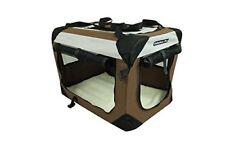 """48""""Fabulous Pet 3-Door Folding Soft Crate, Indoor & Outdoor Pet Home Coffee"""