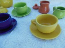 Fiesta Ware Style by Schylling Porcelain 13 pc Child's Tea Set 2008