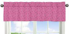 Pink Bandana Window Valance Curtain For Sweet Jojo Western Cowgirl Bedding Sets