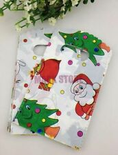 Free 50pcs Christmas Gift Bags Jewelry Packaging Gift Pouches Plastic 15X9cm NEW