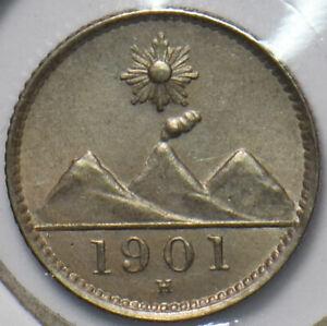 Guatemala 1901 H 1/4 Real 193211 combine