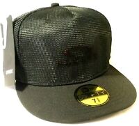 RARE OAKLEY x JEFF STAPLE REFLECTIVE HAT Black Fitted 7 3/8 New Era 59 Fifty Cap