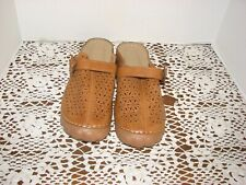 Women's Leather Clogs Size 40