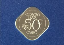 Franklin Mint Curacao Plaza  Netherlands Silver Gaming Coin Token 50 gulden