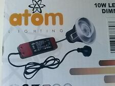 Atom Greenbrook 10w led IP65 Dimmerble Firerated down light in Satin Chrome