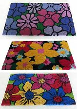 "3 Beautiful Floral Printed Coir Door Mat - Combo offer . Each 18"" x 30"" size"