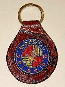 Brooksfield Australian Menswear Fancy Leather Key Ring NEW Key Holder Down Under