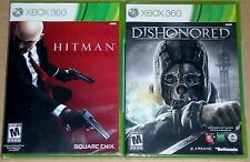 XBox 360 Game Lot - Hitman Absolution (New) Dishonored (New)