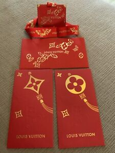 🧧 Authentic Louis Vuitton Chinese Lunar New Year Red Envelope Tag
