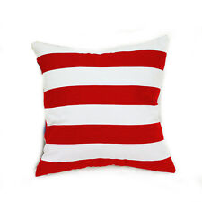 "1x18"" Red White Stripe Pattern Cotton Throw PillowCase Decor Cushion Cover 45cm"