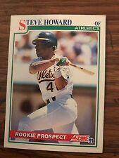 1991 Score Rookie Prospect Steve Howard Oakland A's 364