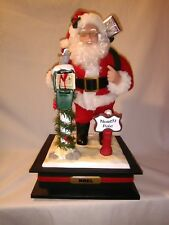Retired Holiday Creations Christmas 1999 Santa Mail Box Drum Lighted Noel