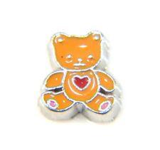 Floating Charms Mini Charm Glass Living Memory Locket Love Teddy Bear 9mm