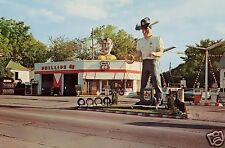 PHILLIPS 66  GAS STATION ADVERTISING MUFFLER MAN TIRES S&W SIGN