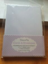 "16 Blank Cards & envs BNIP Dovecraft 8 Pearl White 5x7"" 8 Silver 6x6"" Free Del"