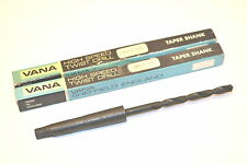 "2 NOS VANA UK HSS No.1 MT TAPER SHANK DRILL Size A (5.94 mm .2340"" Dia) WR13bG7B"