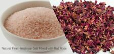 Himalayan Salt Bath Foot Soak with Rose Petals 100% all natural organic 500g