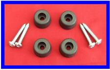 20 x RUBBER FEET WITH SCREWS FOR HI-FI - AMPLIFIERS, TUNERS, CD PLAYERS  22 x 10