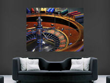 ROULETTE CASINO GAMBLING  LARGE  WALL PICTURE POSTER GIANT HUGE ART