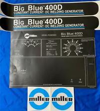 Miller Electric Arc Welders Big Blue 400d 5 Piece Decal Control Plate Amp Decals