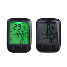 Wireless Cycle Bicycle Bike LCD Computer Speedometer Odometer with Backlight New