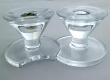 Extremely Rare Pair French Cristal J.G. Durand Crescent Console Candlesticks