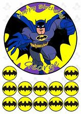 Batman 19cm PERSONALISED Cake topper with 12 cupcake toppers