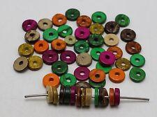 "100 pcs Mixed Color Natural Coconut Column Heishi Beads 12mm(1/2"")"