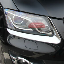 ABS Chrome Front Light Eyelid Trim For Audi Q5 2009-2012