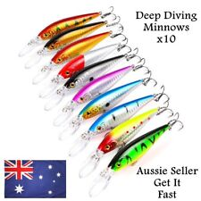 10 Fishing Lures Redfin, Yellowbelly, Salmon, Flathead, Mackerel, Trevally 11cm