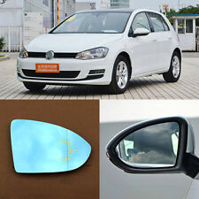 Rearview Mirror Blue Glasses LED Turn Signal with Heating For Volkswagen Golf 6