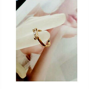 """KATE SPADE """"Ready Set Bow"""" Crystals Ring Gold/Rose Gold ,Size of 6/7/8"""