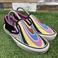 UK4 Womens VANS Rare Multi Colour Canvas Trainers - Festival Concert Hippy Shoes