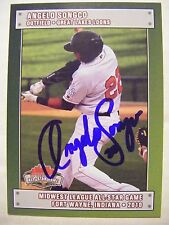 ANGELO SONGCO signed DODGERS 2010 Midwest League ASG baseball card AUTO MWL Lg