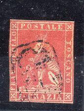 ANTICHI STATI FRANCOBOLLI 1857 TOSCANA 1 CRAZIA CARMINIO D/9184