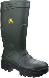 AMBLERS AS1009 GREEN/BLACK SAFETY WELLIES SIZE 10
