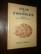 ATLAS DES FOSSILES - III Fossiles tertiaires et quaternaires - G. Denizot 1958