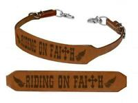 "Showman ""RIDING ON FAITH"" Leather Branded Wither Strap! NEW HORSE TACK!"